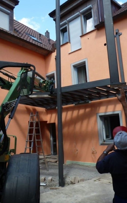 vodächer metallbau würzburg Vordach aus Stahl und Edelstahl mit Glas